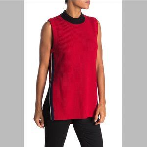 BURBERRY Knox Sleeveless Color Block Knit Top